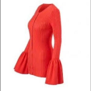 Cabi beautiful bell sleeve red sweater 🎄small